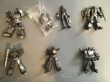 Transformers SCF Heroes of Cybertron Clear & Pewter lot Optimus Prime Megatron