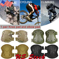4Pcs Military Army Tactical Knee Pads Elbow Cycling Elbow CS Knee Pads Protector