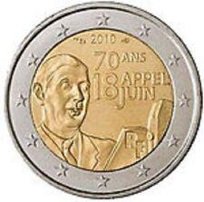 MONETA COMMEMORATIVA 2 EURO FRANCIA 2010 APPEL DU 18 JUIN COME NUOVA LUCCICANTE