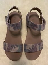 Corkys Camo Print Wedge Strappy Sandals Size 8