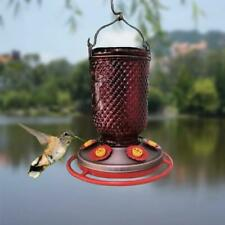 Red Mason Wide Mouth Jar Bottle Hummingbird Feeder Holds 32oz of Nectar