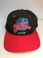 Planet Hollywood London Hat Snapback Baseball Cap Black Red