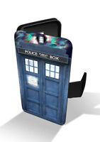 Tardis Ship Police Box Booth Space Time Travel Wallet Leather Phone Case