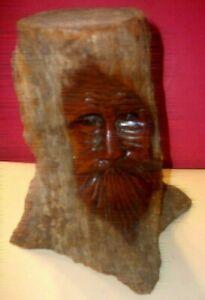 Junior Cobb wood carved tree spirit- 8 inches well known Arkansas folk artist