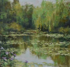 "Staw"" Original Oil Painting 30x30cm signed Garncarek Al,,"
