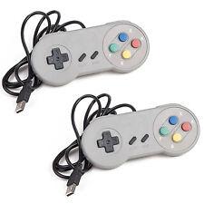 2 Pack USB Controller for SNES Super Nintendo Games Retro Classic Gamepad