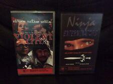 VIOLENT CITY & NINJA EXTERMINATORS VHS MOVIES RARE VINTAGE VIDEOS CHEAP AUS
