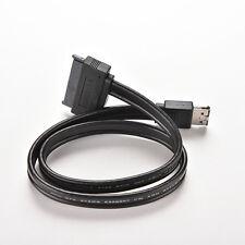 """Power eSATA USB 2.0 5V 12V Combo to 2.5"""" 3.5"""" 22pin SATA HDD Adapter Cable JX"""