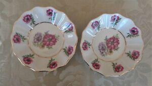 Vintage LC Bernadotte Czechoslovakia Fine China Jam / Butter / Pin Dishes x 2