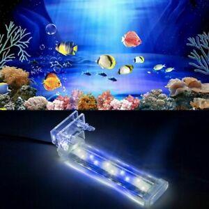 Aquarium Fish Tank LED Clip Light 8/12/16CM Bar Submersible Waterproof Lamp EU