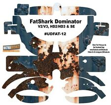 FatShark Dominator V2 V3 HD2 HD3 Skin Wrap Decal Fat Shark Rusted Paint