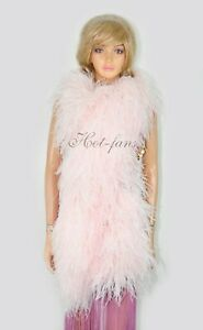 "Blush Luxury 20 ply Ostrich Feather Boa long 71"" (180 cm )"