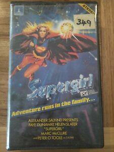 """Supergirl"" 1984 Sci-Fi Action Adventure DC Superman VHS *Thorn EMI* Movie RARE"