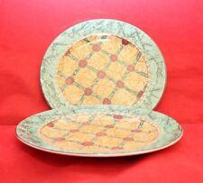 "Sakura TAPESTRY John Zak Design 8 1/8"" 2 Salad Luncheon Plates"