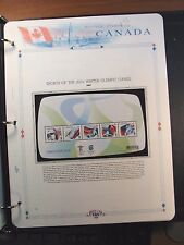 Canada Stamp Album Page Scott# 2010 Winter Olympic Sheet  MNH 2009 C239