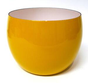 "Kobenstyle DANSK IHQ Bright Yellow 8"" Enamel Serving Bowl New with Tag"