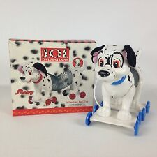 Disney 101 Dalmatians Pull Toy Slinky Brand Blue Wheels Collar