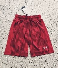 New Under Armour Youth Boys Casual Red Shorts Pants w/ Pockets Size: Small