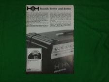 HH IC100L anuncio 1979 Amplificador De Potencia