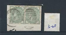 wbc. - Gb - Queen Victoria - Qv348 - 0.5d - green -pair - on piece - Sg 164