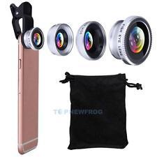 Fischauge Weitwinkel Makro Handy Objektive 3 in 1 Für IPhone 5 6 7 plus Samsung