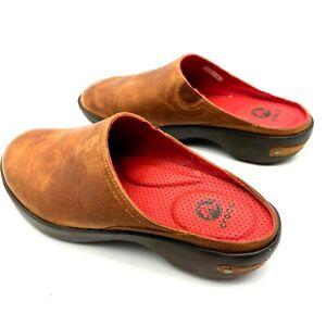 Crocs Womens Comfort Round Toe Slip On Slide Clog Shoes Brown Size US 8 #16052