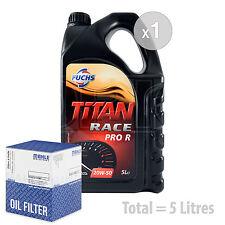 Engine Oil and Filter Service Kit 5 LITRES Fuchs Titan Race Pro R 20W-50 5L