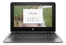 "HP Chromebook X360 11.6"" HD Touch Screen Intel 3350 Wi-Fi 16GB eMMC 4GB Gray"