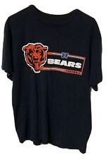 Chicago Bears Football Nfl Printed Big Bear Head Logo Blue Shirt Size Large