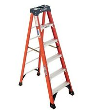 Werner 6 ft Fiberglass Step stable Ladder 300 lbs Load Capacity Type IA Duty G