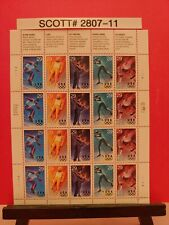 Scott # 2807-11- Winter Olympics - Sheet of (20) 29 Cent Stamps