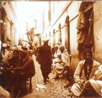 Algeri Rue Algeria Foto Stereo PL58L29n17 Placca Lente Vintage