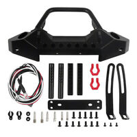 Metal Front Bumper & Led Light for 1/10 RC Car Axial SCX10 90046 Traxxas TRX4