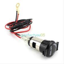 12V Cigar Cigarete Lighter Power Supply Car Charger Plug Socket Adapter Dual USB
