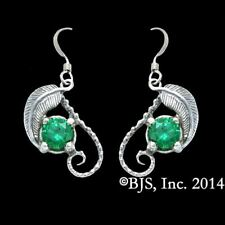 The Hobbit/Lotr Official Mirkwood Earrings Elven Lorien Leaf Emeralds of Girion