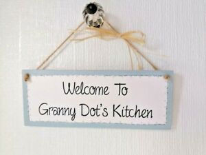Chalk Painted Personalised Wooden Kitchen Plaque/Sign - Who's Kitchen?