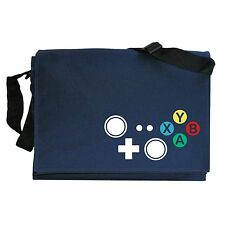 Xbox Console Inspired Joypad Controller Buttons Navy Blue Messenger Shoulder Bag