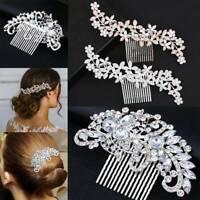 Luxury Bridal Wedding Crystal Rhinestone Flower Hair Clip Comb Pin Headband NEW