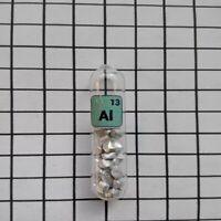 1pcs 99.9% Pure aluminum AL Element Sealed Argon Glass Ampoule