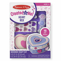 Melissa and Doug Created by Me! Heart Box Wooden Craft Kit - 18850 - NEW!