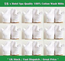 18 x Wash Mitts Hotel/ Spa Quality 100% Cotton