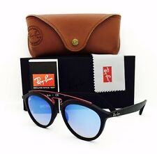 New Ray Ban Sunglasses RB 4257 6252/B7 Gatsby II Black/Blue 53•19•150 With Case