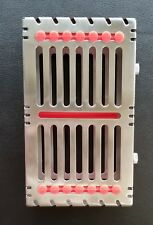 Dental Sterilization Cassette Rack Tray Box for 7 Surgical Instruments