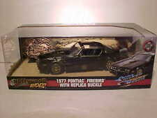 Smokey and the Bandit 1977 Pontiac Firebird Trans Am 1:24 Jada 8inch with Buckle
