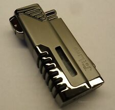 Quad 4 Flame Refillable Gunmental Gray Cigar Lighter / Bullet Cutter / Gift Box