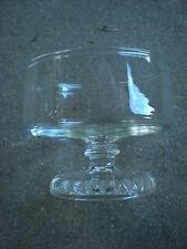 Vintage Stemmed Clear Glass Sherbet Glass