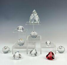 10 Retired Swarovski Crystal Scs Membership, Pyramid & Heart Paperweights Ksb