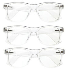 3 Pairs Clear Lens Transparent Glasses Sunglasses lot new classic retro Women