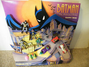 Vintage McDONALDS BATMAN Animated Series HAPPY MEAL TOY DISPLAY/8 pcs/DC COMICS