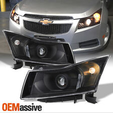 Fit 2011 2012 2013 2014 2015 Chevy Cruze Black Projector Headlights Replacement